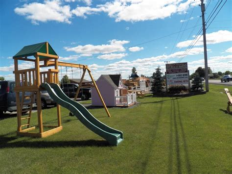 high quality swing sets north country storage barns for play mor high quality
