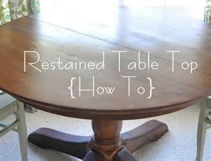 How To Stain A Dining Room Table How To Restain A Wood Table Top Centsational