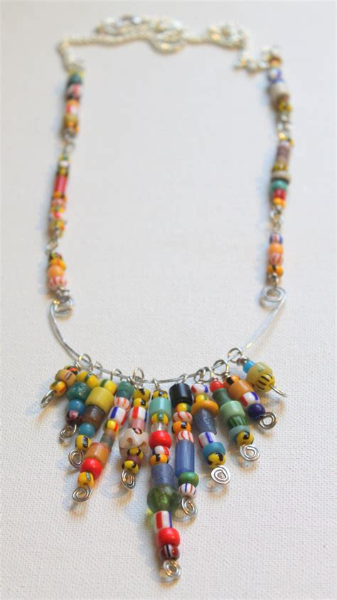 bead wire statement necklace tutorial