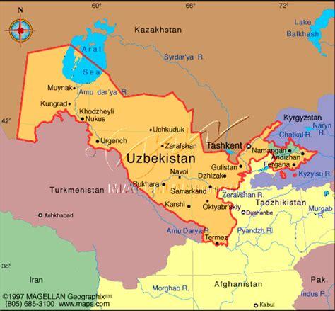 uzbekistan world map maps world map uzbekistan