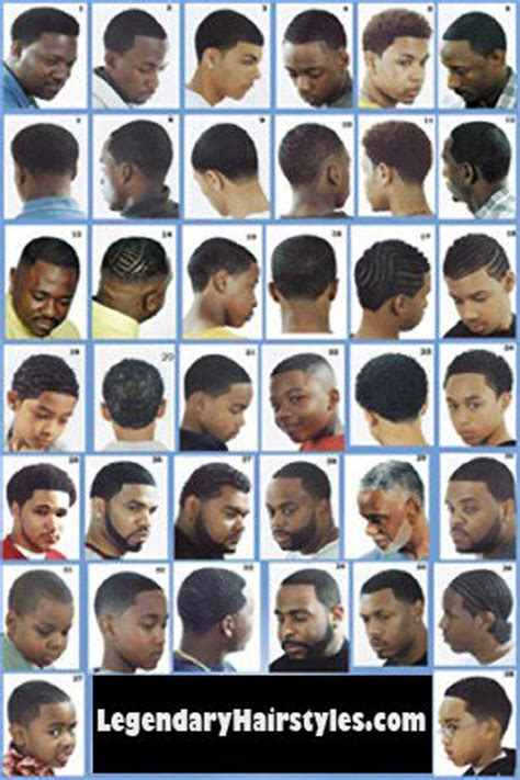 haircut syle charts chicago barbershop poster black hairstyles pinterest