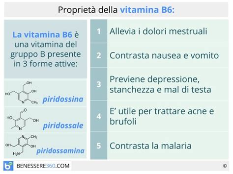 vitamina b6 dove si trova negli alimenti vitamina b6 e a cosa serve elencandone propriet 224 le