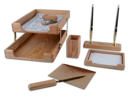 Desk Items by Delucci 6 Wood Desk