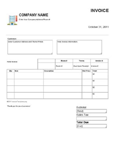hotel template hotel template 28 images hotel bill format in word