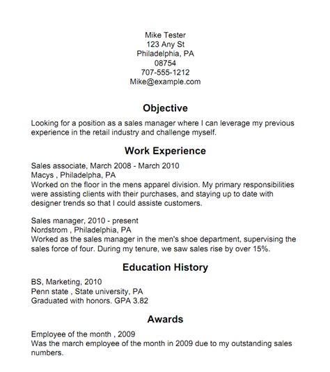 Creating A Resume For by Creating A Resume