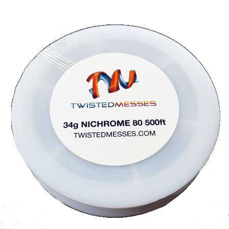 Promo Twisted Messes Nichrome 80 Wires 500ft 32g 40g Tmn80 Kawat Tm twisted messes nichrome80 500ft spain cigar