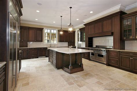 dark cabinet kitchen pictures of kitchens traditional dark wood kitchens walnut color
