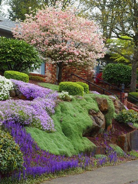 25 best ideas about landscaping a hill on