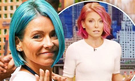 kelly ripa hair changes kelly ripa changes the colour of her locks yet again to