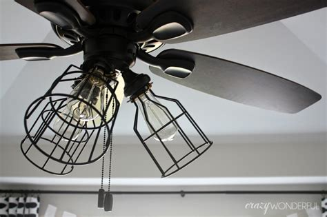 edison light ceiling fan diy cage light ceiling fan crazy wonderful