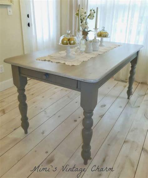 mimi s vintage charm farmhouse table in linen chalk paint mimi s vintage charm