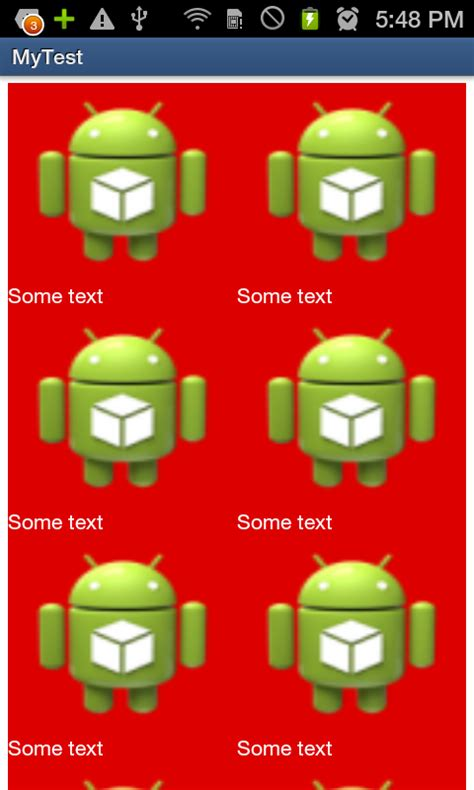 android layoutinflater textview android display a textview below a imageview in a