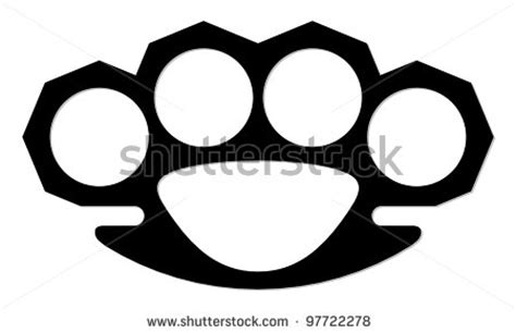 brass knuckles outline pictures to pin on pinterest