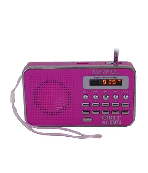 Usb Digital Player Untuk Mobil buy obit digital usb fm radio player pink at best