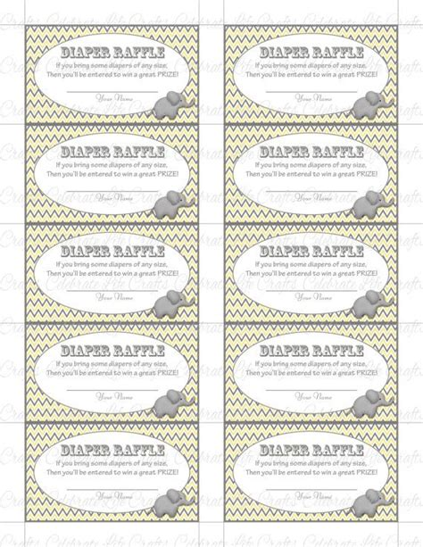 7 best images of free printable diaper raffle sign free