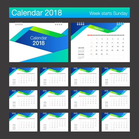 Calendar 2018 Desk Designer 2018 Calendar Desk Calendar Modern Design Template Week