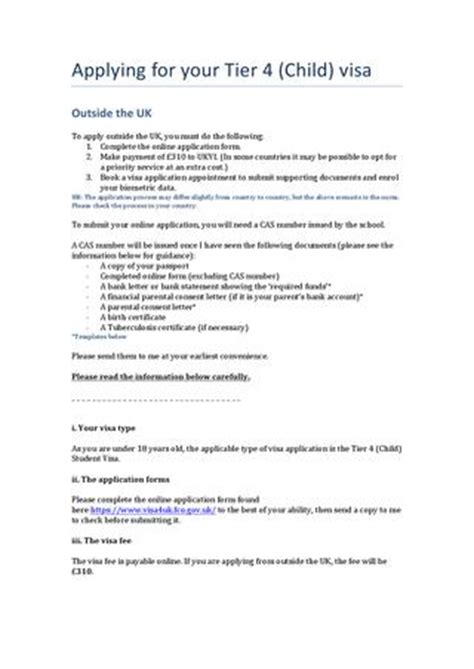 Loan Letter For Uk Student Visa Visa Guidance Applying Outside The Uk Child By Fabio Carpene Issuu