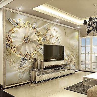 Home Decor Wall Murals by Jammory White Jade Carving Large Flower Decor 3d Fashion