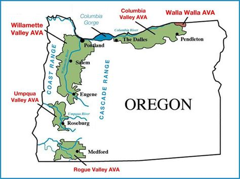 map of oregon wine country oregon wine regions wine country