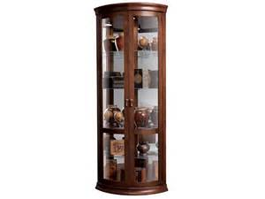Corner Curio Cabinet Used Howard Miller Cherry Finished Corner Curio Cabinet 680 503