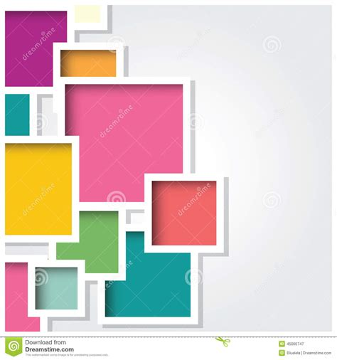 design is square abstract 3d square background colorful tiles geometric