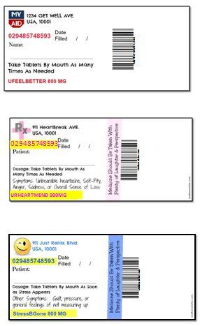 printable pill bottle labels quotes