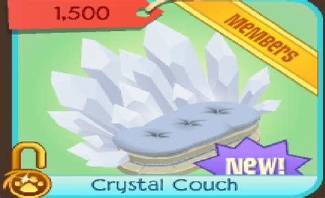 crystal couch animal jam pawz new today crystal couch