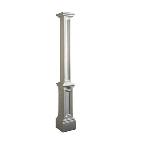 Home Depot L Posts Outdoor by Mayne Signature L Post In White Decorative Post Only