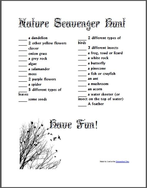 backyard scavenger hunt for kids nature scavenger hunt free download homeschool den