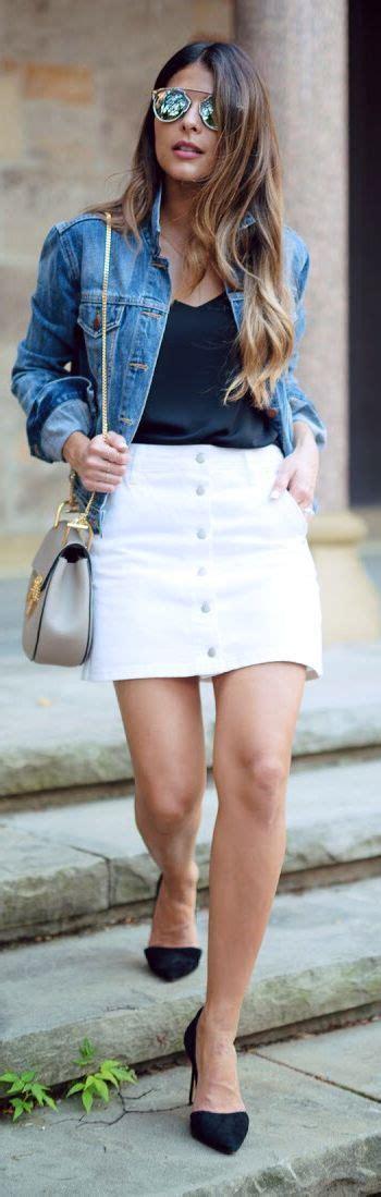 white denim button skirt outfit inspo   girl
