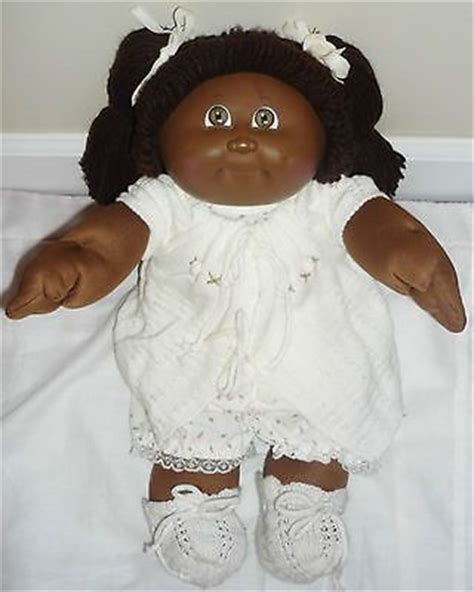 black doll value vintage black american cabbage patch doll 1982