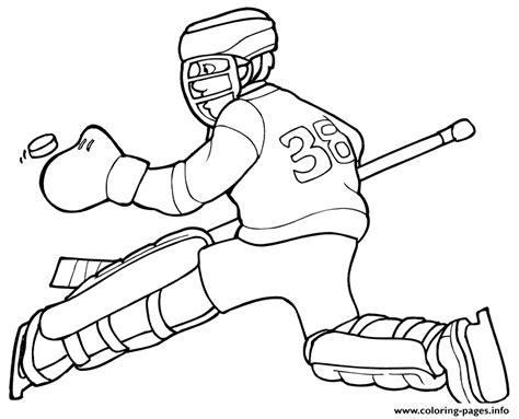 free hockey coloring pages to print hockey goalie kids coloring pages printable
