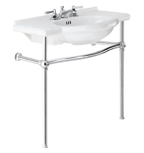 console sink with chrome abernathy single sink console polished chrome porcelain