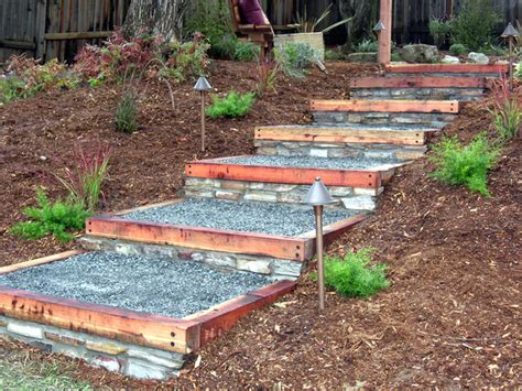 backyard steps how to build redwood and steps how tos diy