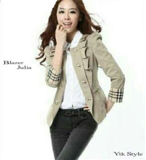 Gamis Merlin By Yulia Batik blazer wanita casual model baju kerja terbaru