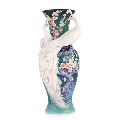 franz vase franz porcelain white peacock vase ebay
