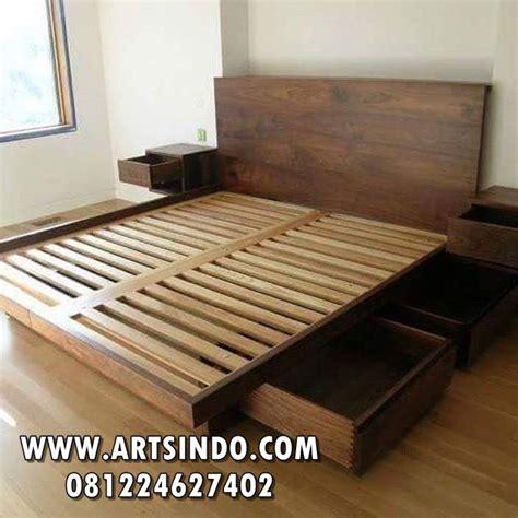 Tempat Tidur Kayu Laci tempat tidur minimalis model terbaru kayu jati mahoni