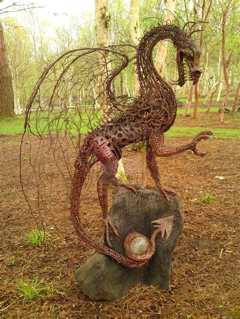 backyard dragon metal dragon sculpture metal art pinterest