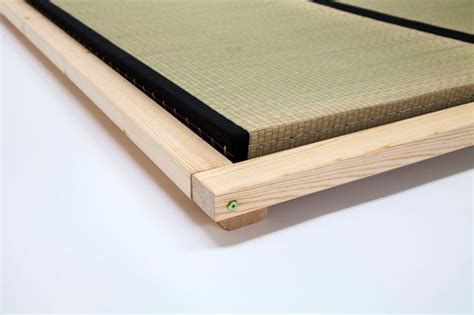 tatami mat futon the anjo futon bed showing corner detailing and tatami
