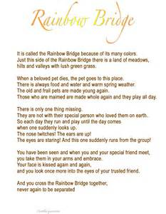 Images for facebook tumblr rainbow bridge poem for dogs printable