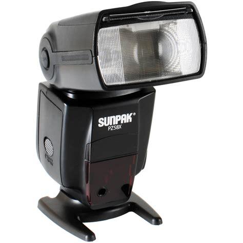 flash camara canon sunpak pz58x flash for canon cameras pz58xc b h photo video