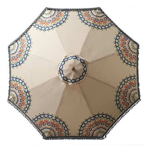 pattern patio umbrella patio umbrellas for summer we re seeing a pattern l a