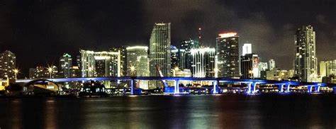 miami city skyline at night south florida cityscapes south dade news leader gallery