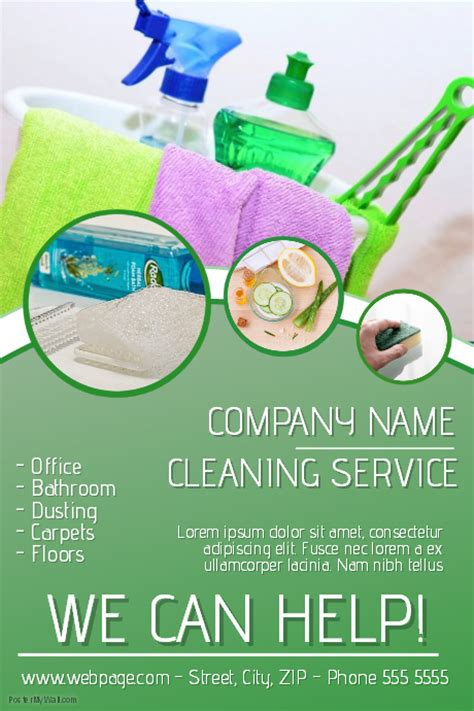 cleaning service flyer template postermywall