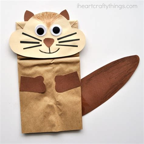 Paper Bag Cat Craft - 15 squeakily alvin and the chipmunks ideas