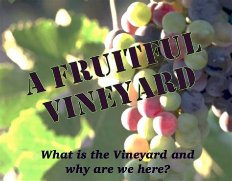 A Fruitful Spirit by A Fruitful Vineyard Come Holy Spirit Winnipeg Centre