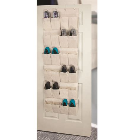 door shoe organizer storage canvas 24 pocket over the door shoe organizer