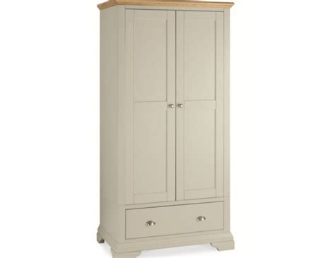 neve soft grey and weathered hstead soft grey and oak 2 door wardrobe