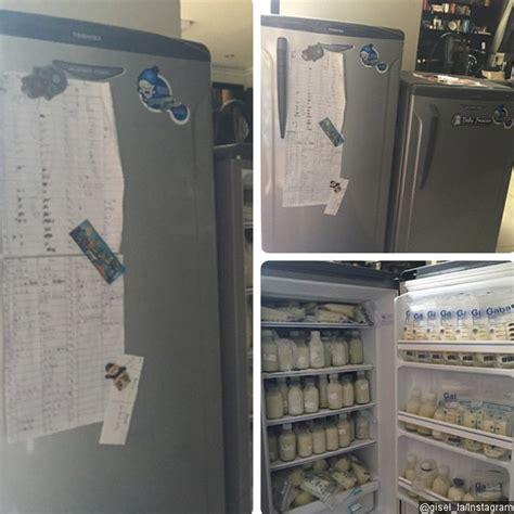 Kulkas Khusus Untuk Asi buktikan ibu sejati gisella pamer kulkas penuh asi untuk