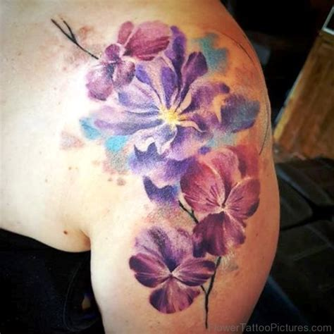 watercolor tattoo flower designs 45 fantastic larkspur flower tattoos
